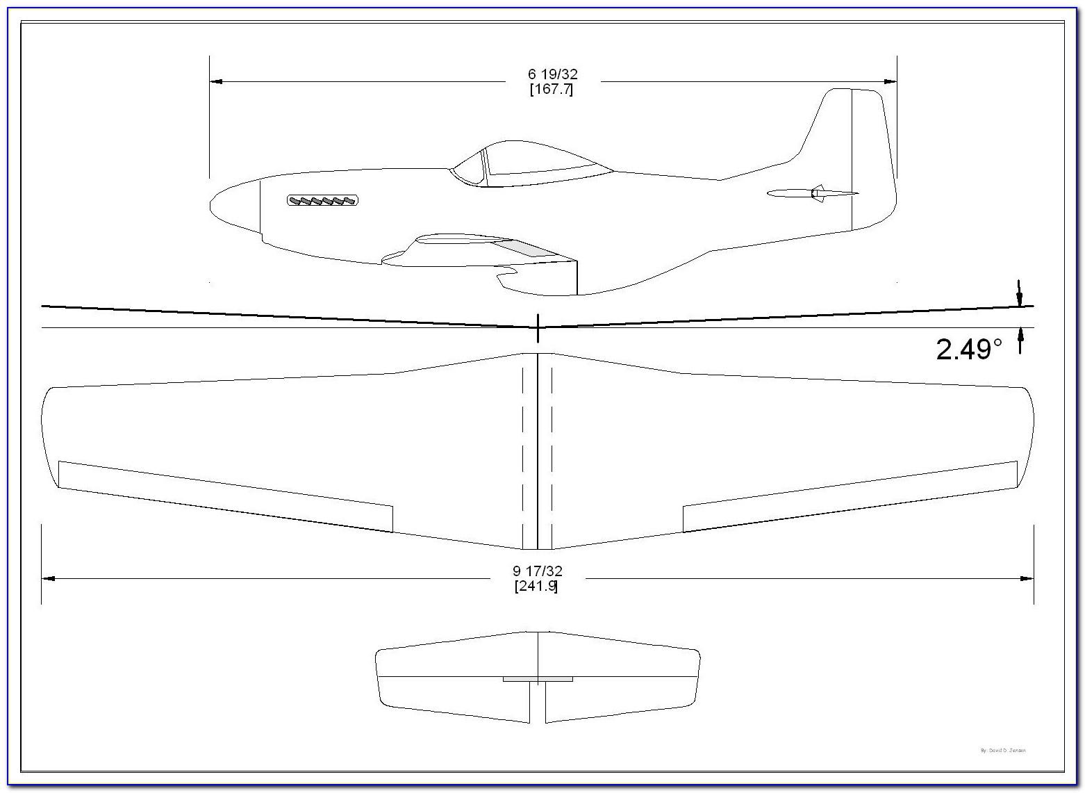 Balsa Wood Airplane Template