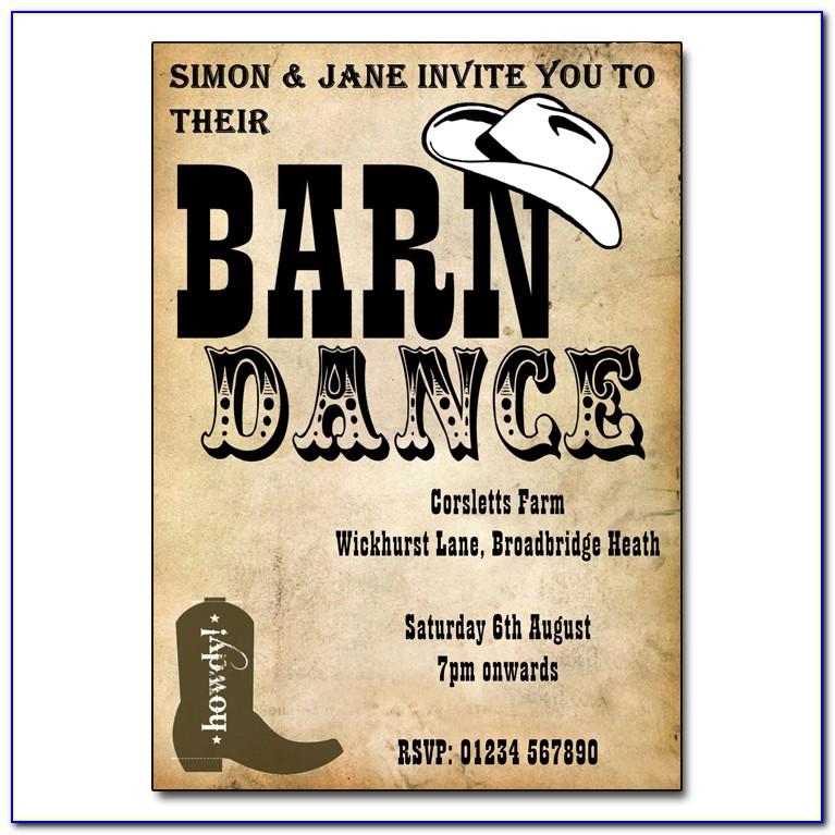 Barn Dance Invitation Templates Free