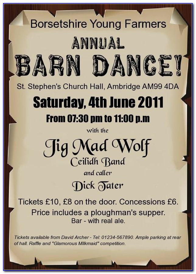 Barn Dance Party Invitation Template