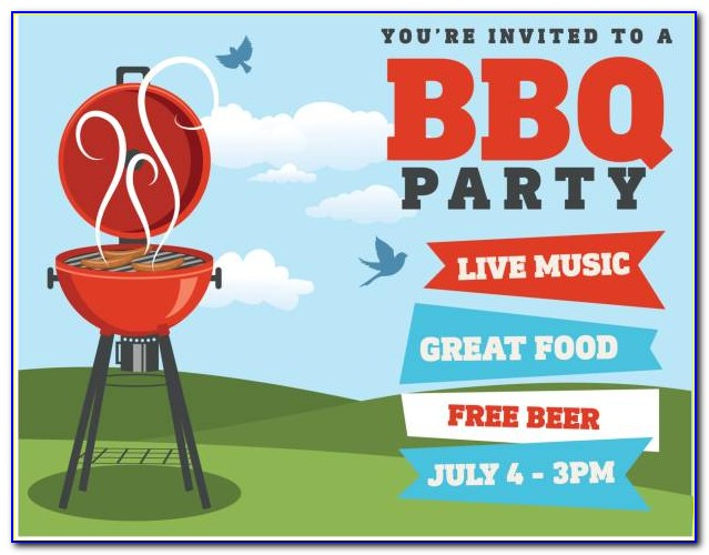 Bbq Invitation Card Template