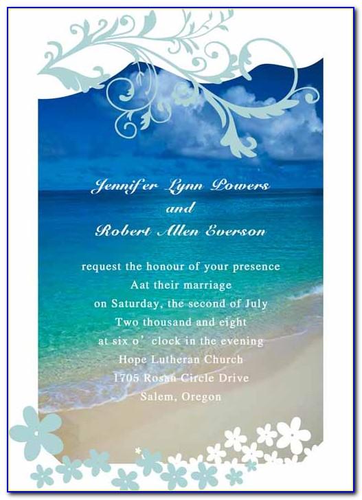 Beach Wedding Invitation Templates Download