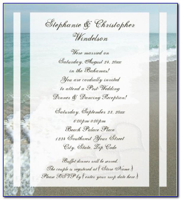 Beach Wedding Shower Invitations Templates