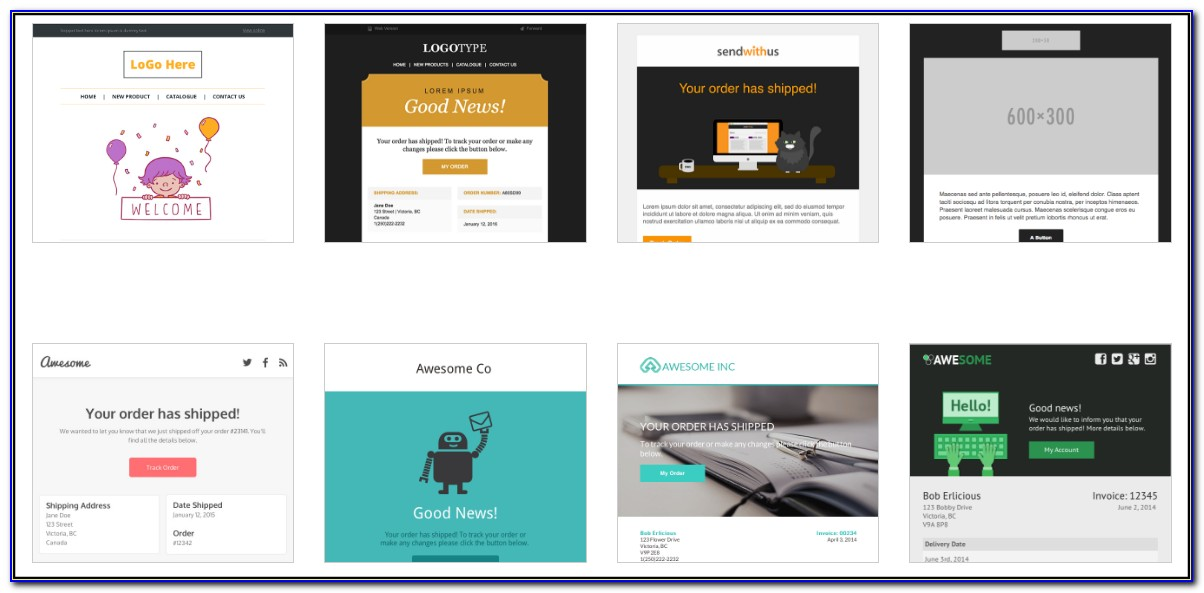 Beautiful Html Email Templates