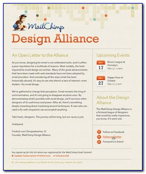 Best Newsletter Templates For Mailchimp