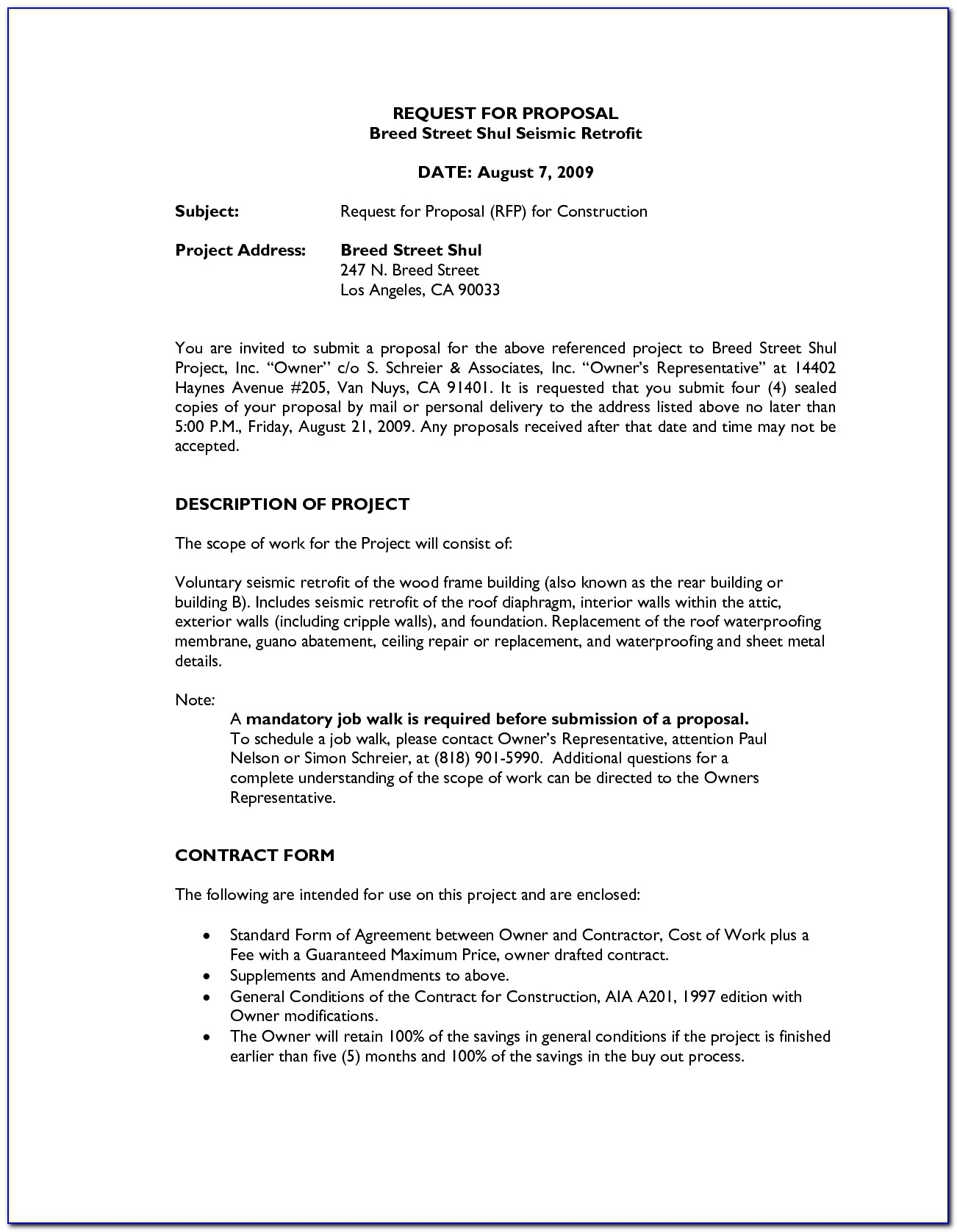 Bid Proposal Template For Painting