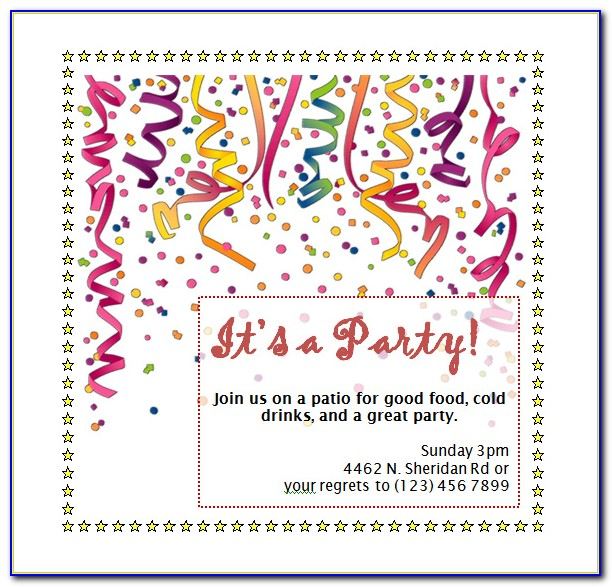 Birthday Party Invitation Flyer Template Free Download