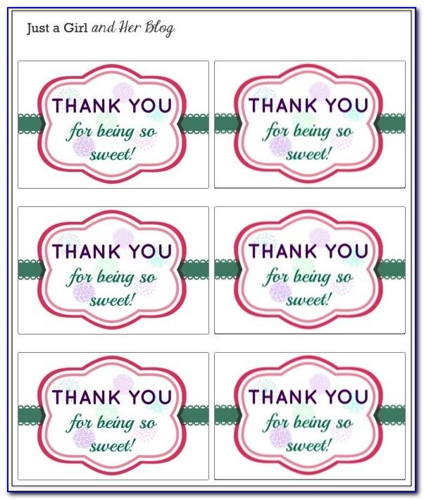 Birthday Thank You Sticker Template