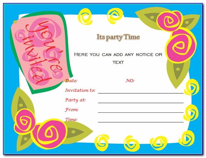 Blank 50th Birthday Invitation Templates