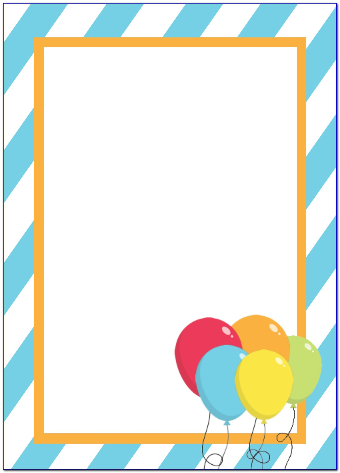 Blank Birthday Invitation Templates Free