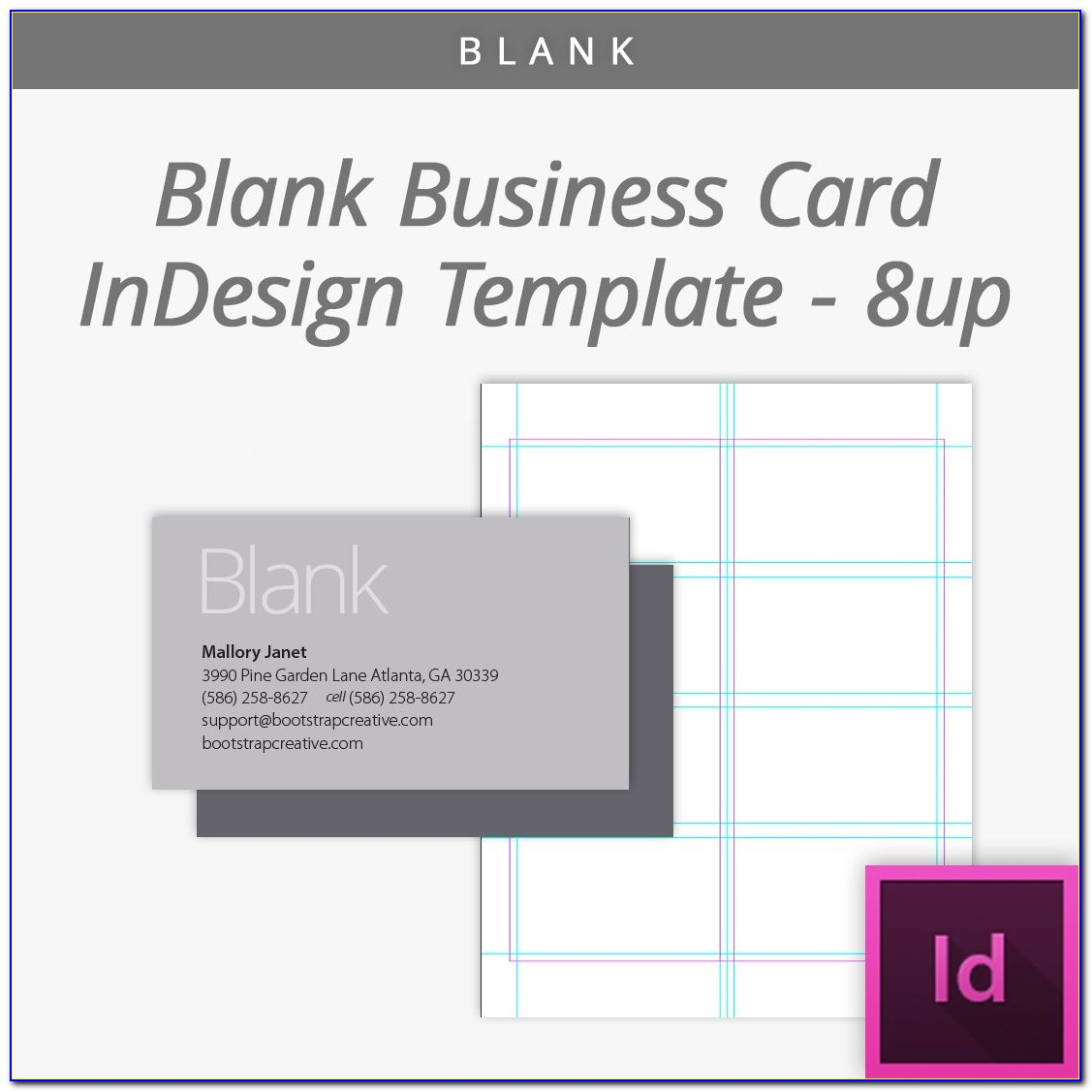 Blank Business Card Template Psd Download