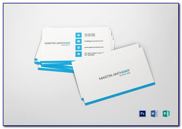 Blank Business Card Template Psd
