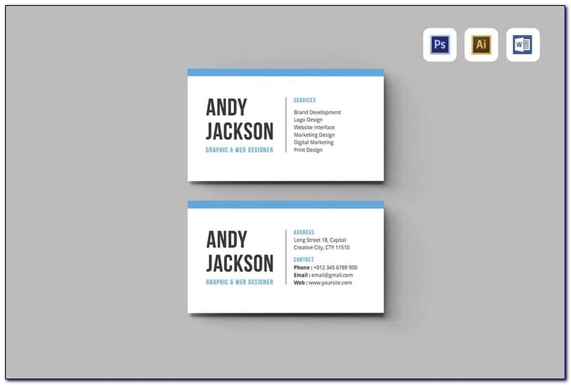Blank Business Card Template Word Free