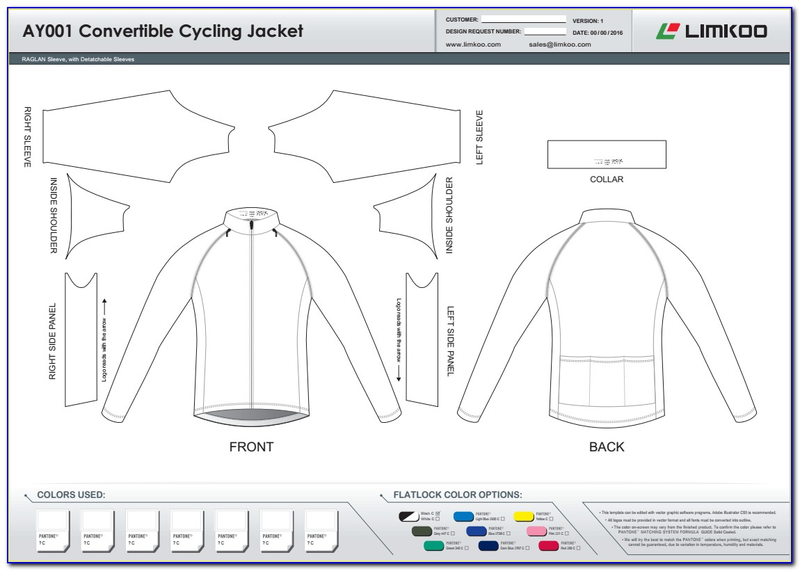 Blank Cycling Jersey Design Template