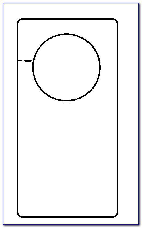 Blank Door Hanger Template For Word