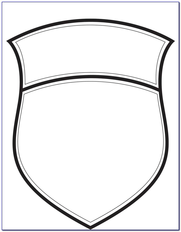 Blank Football Badge Template