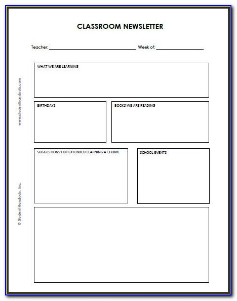 Blank Newsletter Template Microsoft Word