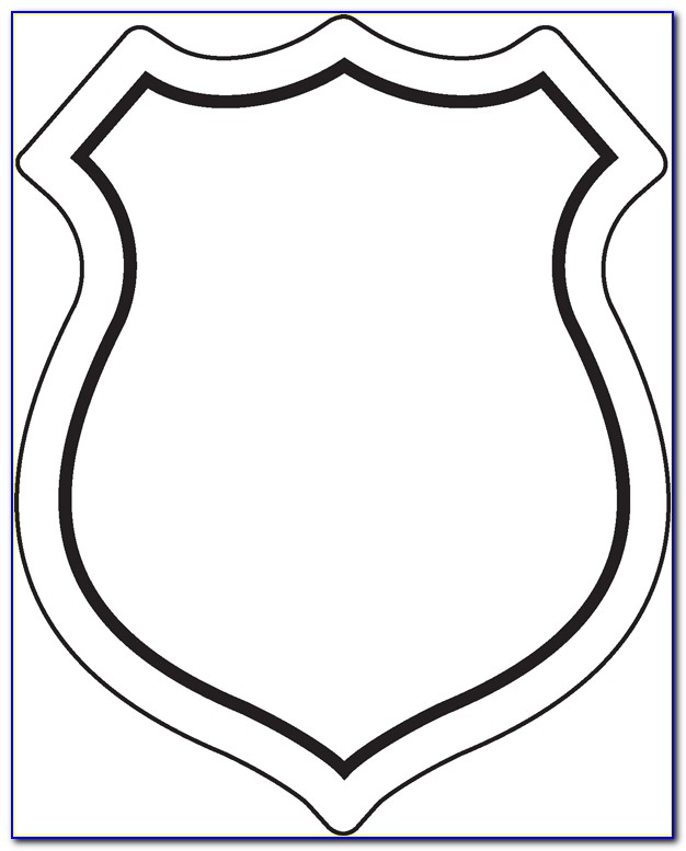 Blank Soccer Badge Template