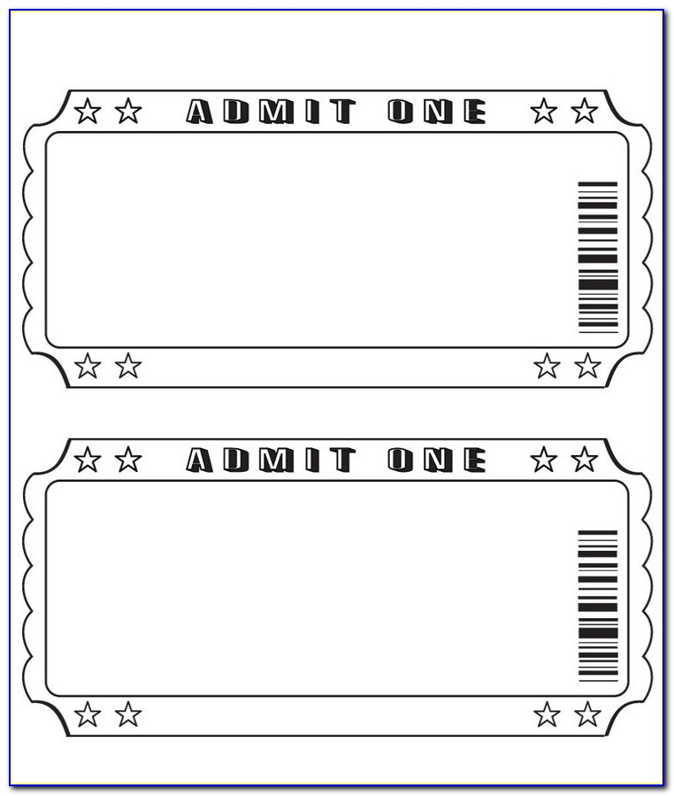 Blank Ticket Templates Free