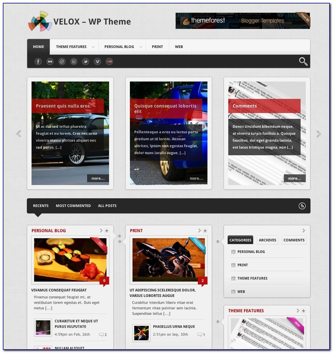 Blogging Templates Wordpress