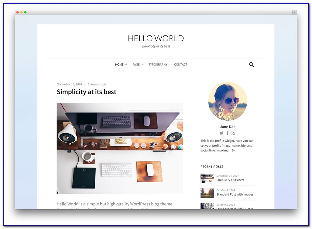 Blogging Wordpress Themes Free