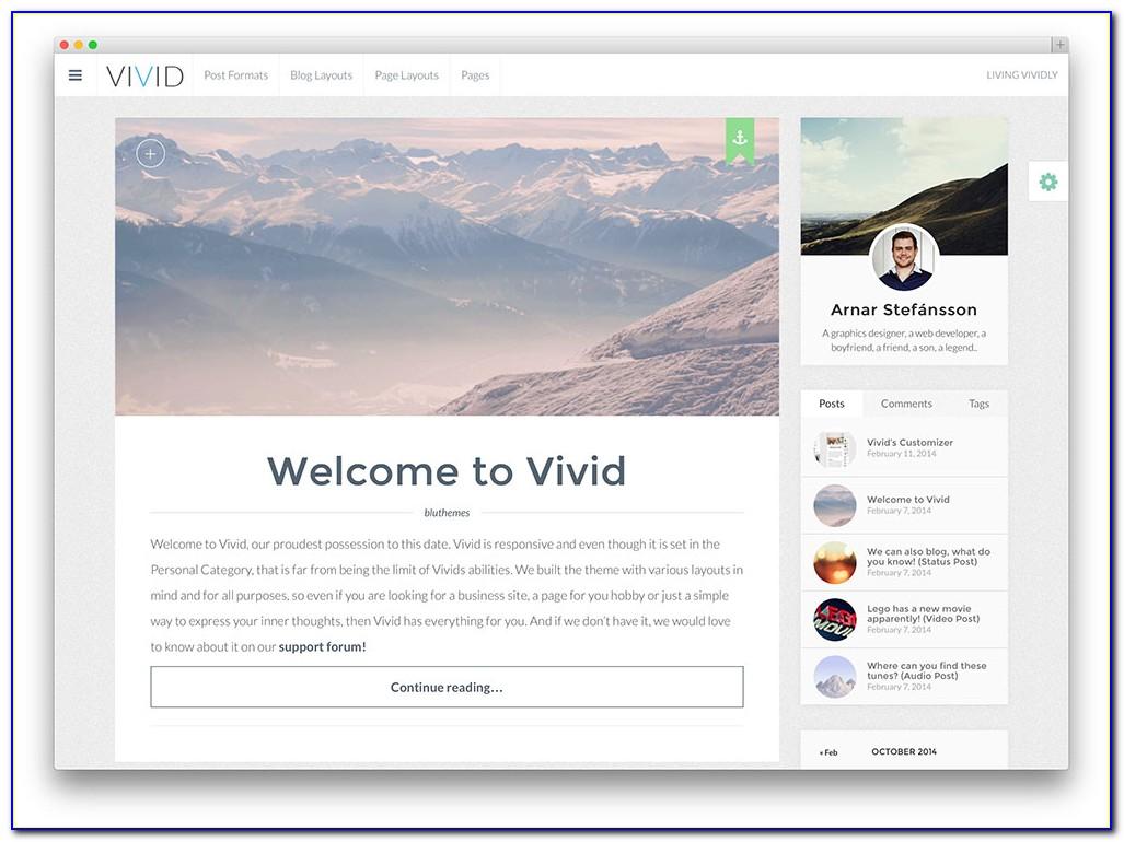 Blogs Theme Wordpress