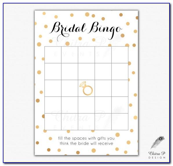 Bridal Bingo Templates