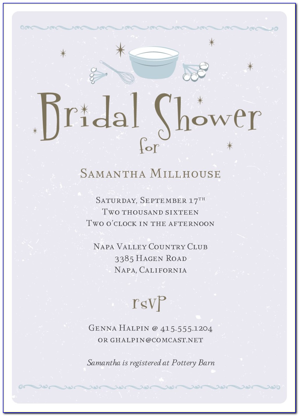 Bridal Shower Program Templates