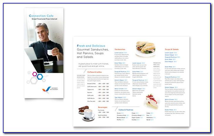 Brochure Menu Template For Fast Food