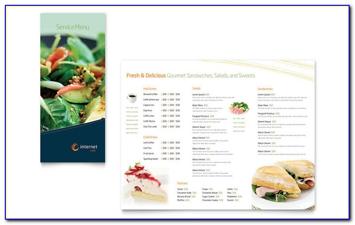 Brochure Menu Templates Free