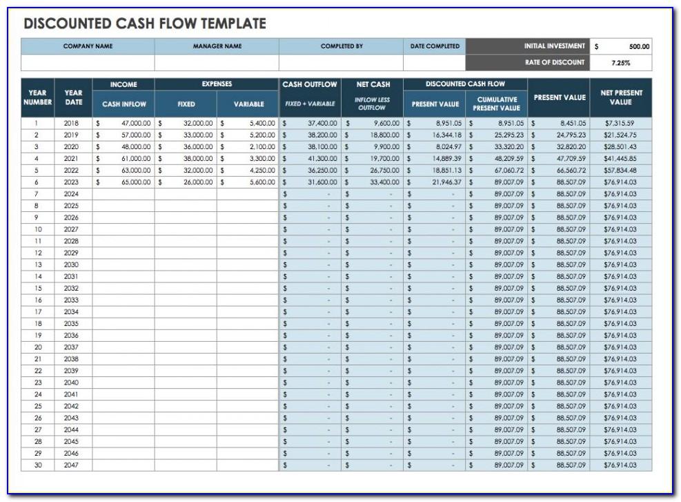 Business Cash Flow Templates