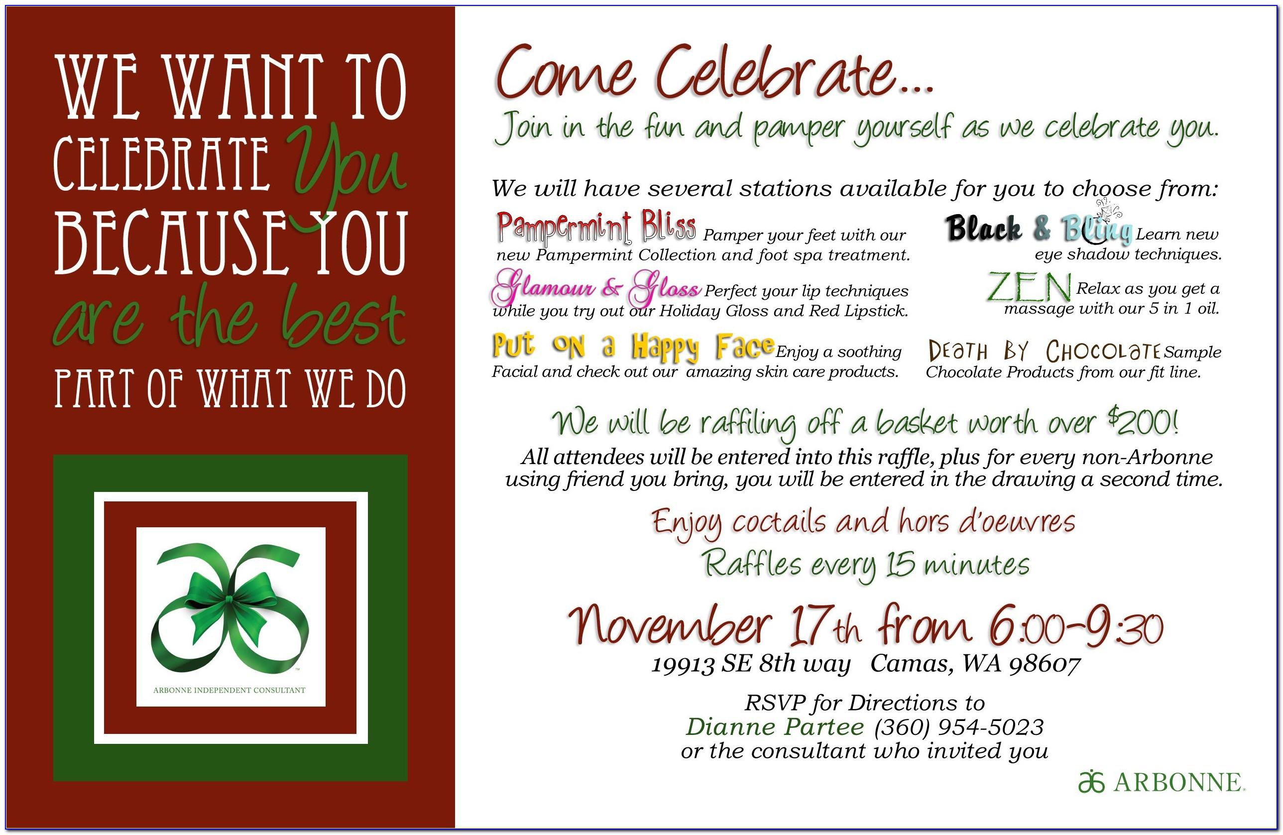 Business Holiday Invitation Templates