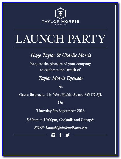 Business Launch Invitation Templates Free