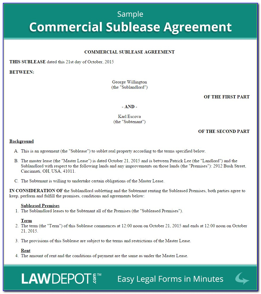Business Lease Agreement Template Word