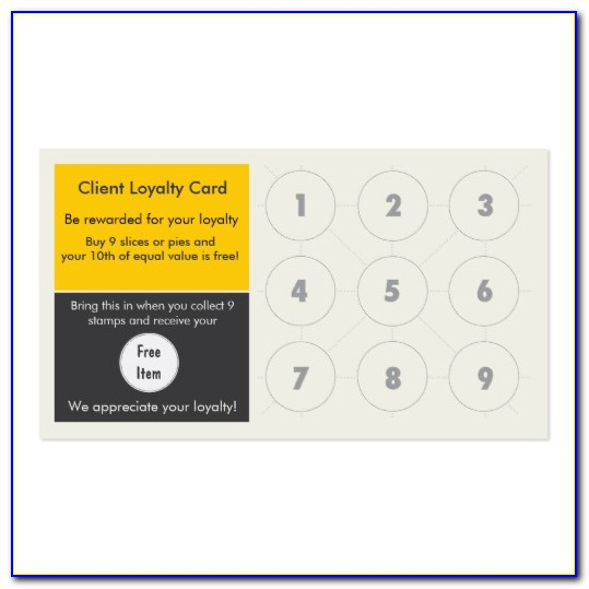Business Loyalty Card Template Free