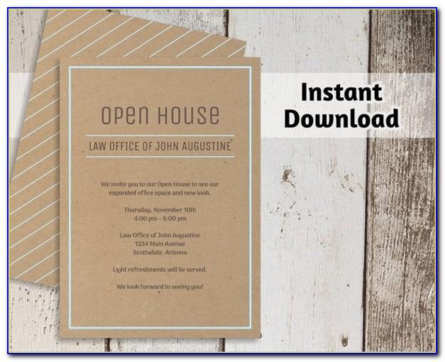 Business Open House Invitation Wording Ideas