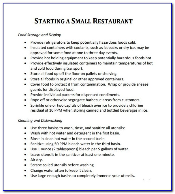 Business Plan Sample Cafe