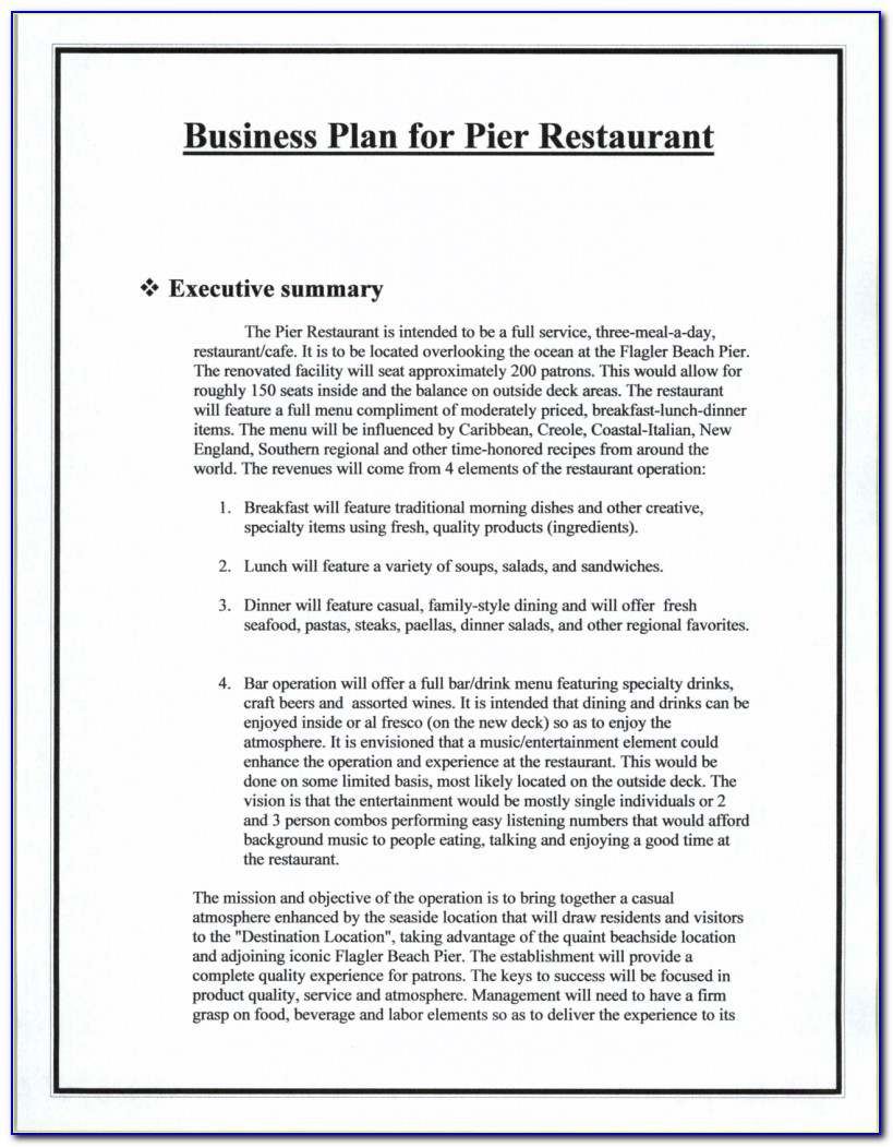Business Plan Template Cafe Uk