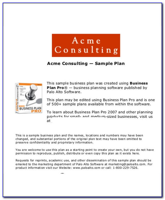Business Plan Template For Engineering Consulting Firm
