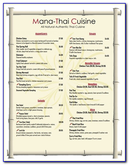 Cafe Menu Templates Free Download Word