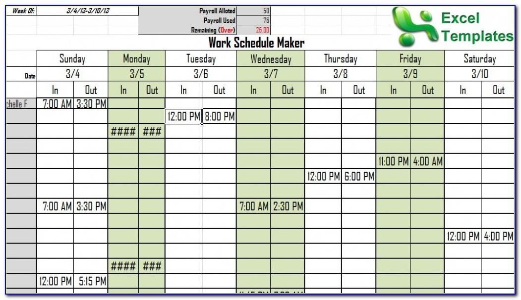 Calendar Maker Excel Template