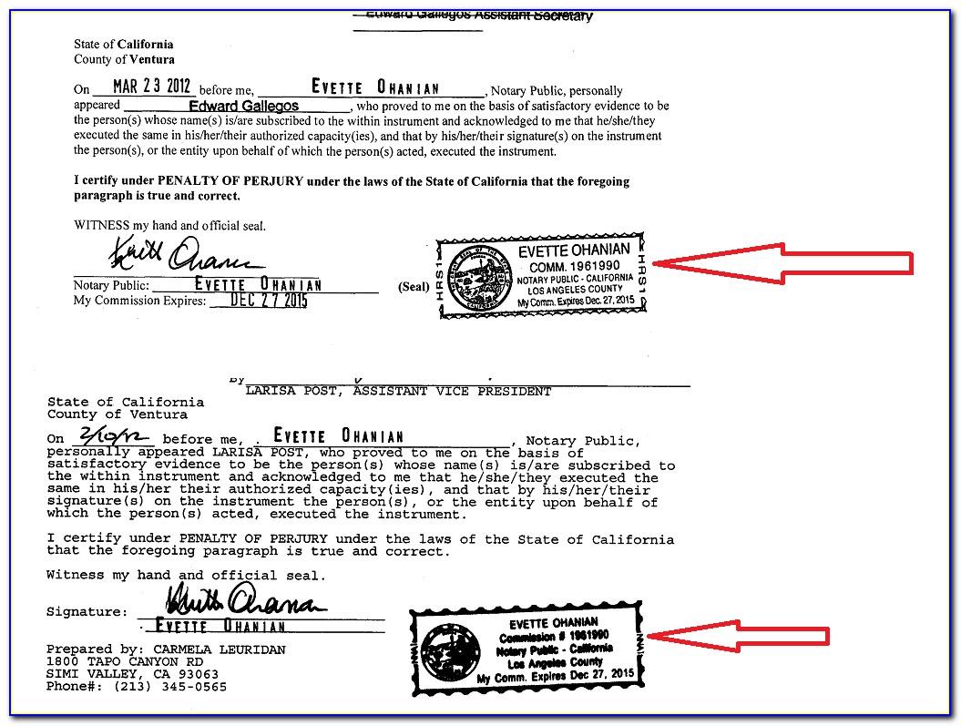 California Notary Seal Template