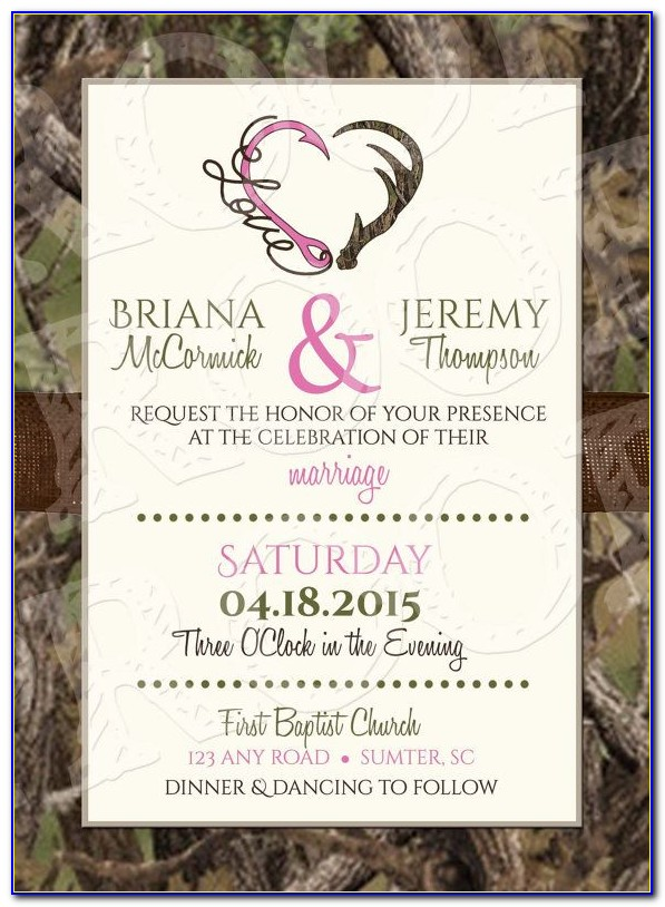 Camo Wedding Invitations Templates