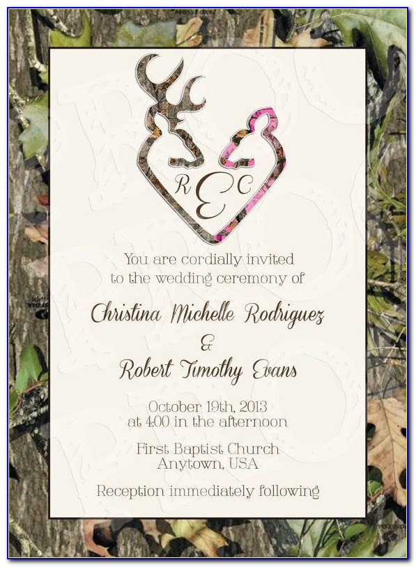 Camouflage Wedding Invitations Templates