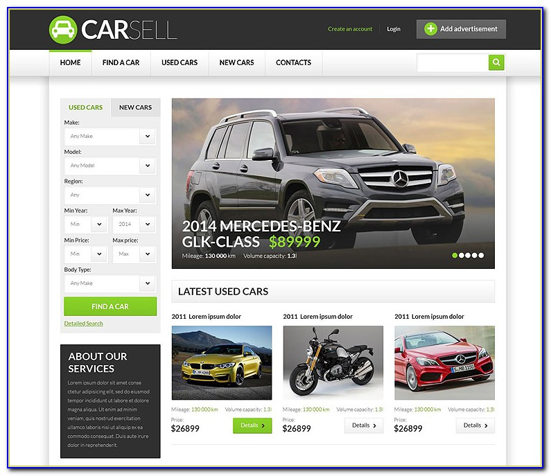 Car Dealer Responsive Website Templates Free Download