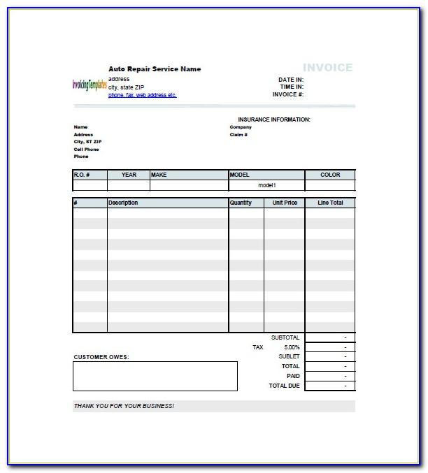Car Invoice Format India
