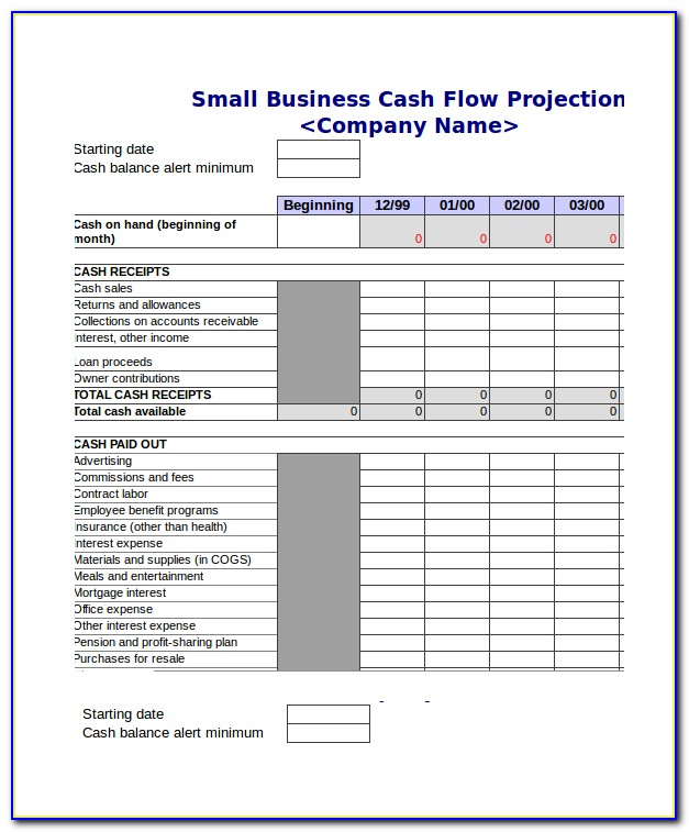 Cash Flow Forecast Excel Template Uk Free