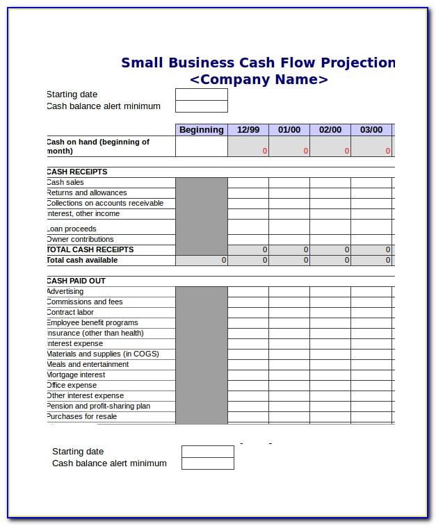 Cash Flow Forecast Excel Template Uk Free