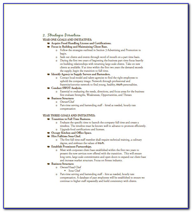 Catering Business Plan Examples