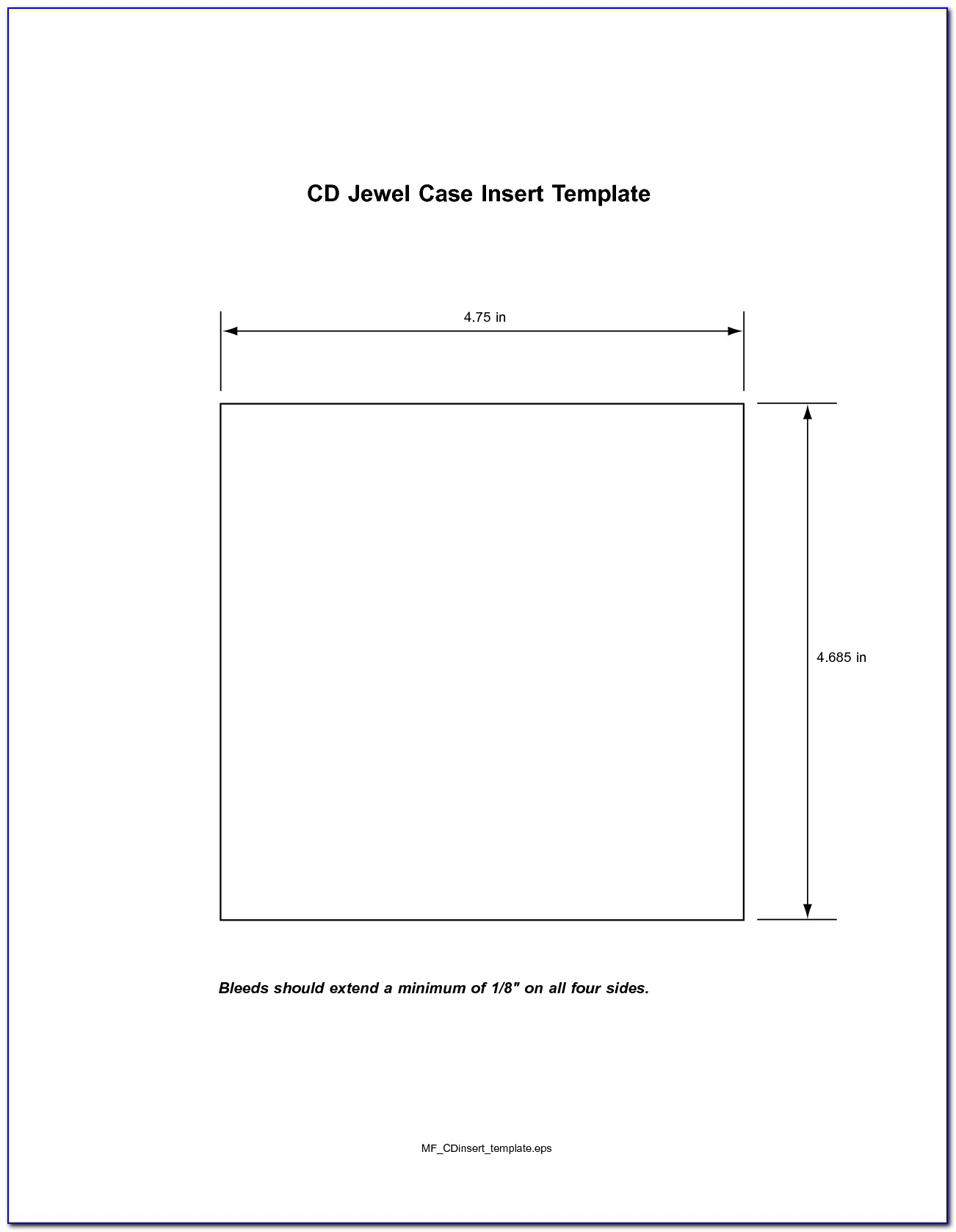 Cd Jewel Case Insert Template Free