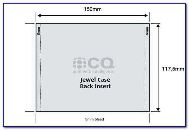 Cd Jewel Case Insert Template Photoshop